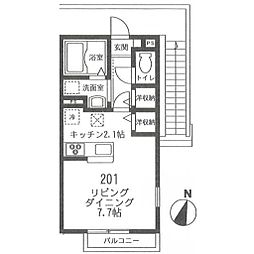 フィカーサ鎌倉[201号室号室]の間取り