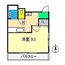 クリスタルハイツ[2階]の間取り