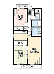 福岡県北九州市八幡西区引野1丁目の賃貸マンションの間取り