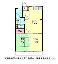 愛知県一宮市猿海道1丁目の賃貸マンションの間取り