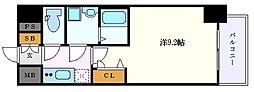 名古屋市営東山線 栄駅 徒歩7分の賃貸マンション 4階1Kの間取り