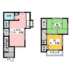 [一戸建] 愛知県稲沢市平和町那古良 の賃貸【/】の間取り