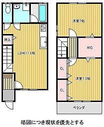 [テラスハウス] 愛知県名古屋市名東区西里町4丁目 の賃貸【/】の間取り