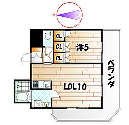 ロイヤルセンターBLD[5階]の間取り