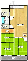 Osaka Metro今里筋線 清水駅 徒歩10分の賃貸マンション 5階3LDKの間取り