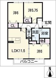 Le confort[2階]の間取り
