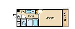 ビクトワール小阪[301号室]の間取り