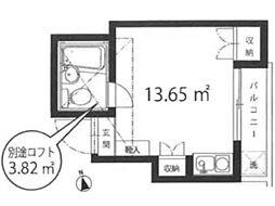 ナカフジハイム野方[1階]の間取り