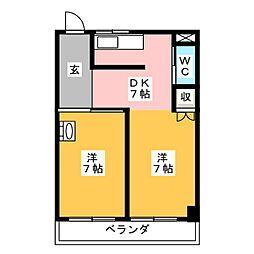 多恵第2ビル[3階]の間取り