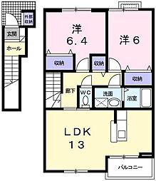 エテルネルB[2階]の間取り