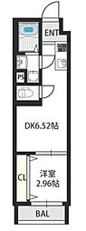 ドゥエリング千林商店街 1階1DKの間取り