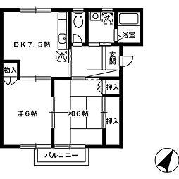 :グリーンヴィレッジ[1階]の間取り
