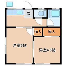 ハイツ姫田[2階]の間取り