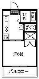 ハイツ江平[302号室]の間取り
