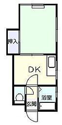 花藤ハイツ[1階]の間取り
