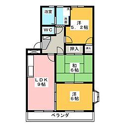 コーポYAMADA[2階]の間取り