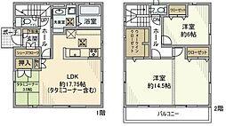 [一戸建] 埼玉県越谷市相模町2丁目 の賃貸【/】の間取り