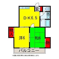 辰巳台イーストメゾン[2階]の間取り
