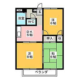 エステートIMA[1階]の間取り