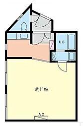 太陽ビル[3階]の間取り