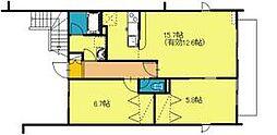 [テラスハウス] 東京都立川市幸町5丁目 の賃貸【/】の間取り
