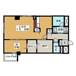 FREA トレーニングルーム付マンション[2階]の間取り