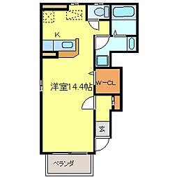 カーサラドール[1階]の間取り