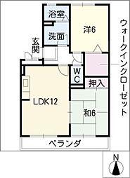 セジュール緑苑21[1階]の間取り
