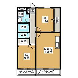 シュールマンション[2階]の間取り