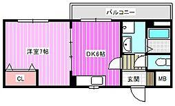奈良県磯城郡田原本町大字秦庄の賃貸アパートの間取り