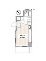 東京メトロ丸ノ内線 茗荷谷駅 徒歩5分の賃貸マンション 9階ワンルームの間取り