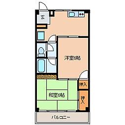 レジデンスタナカ[2階]の間取り