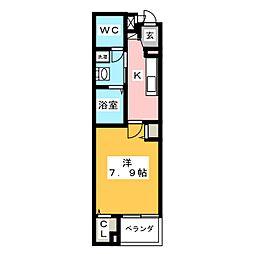ステーション シン[2階]の間取り
