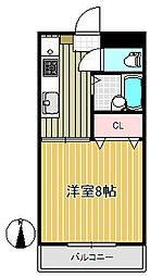 セラコート トーハチ[3階]の間取り