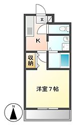 愛知県名古屋市中村区草薙町3丁目の賃貸マンションの間取り