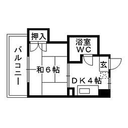 美野島ハイツ[4階]の間取り