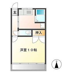 栗田マンション[10号室]の間取り
