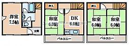 [一戸建] 大阪府東大阪市吉田下島 の賃貸【/】の間取り