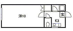 北海道札幌市豊平区西岡二条8丁目の賃貸アパートの間取り