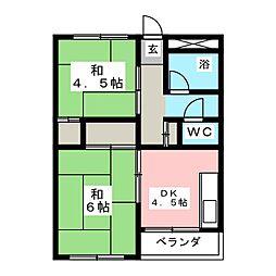 ヤマコ第1ビル[5階]の間取り