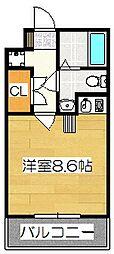 メモリアル博多[8階]の間取り