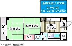 シャロス浅川[303号室]の間取り