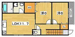 ハイム・ララ2[2階]の間取り