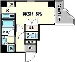 シャトーナンバリプレ[3階]の間取り