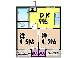 愛媛県松山市立花1丁目の賃貸マンションの間取り
