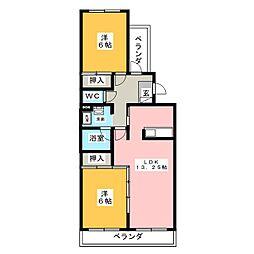 マンションアルス[2階]の間取り
