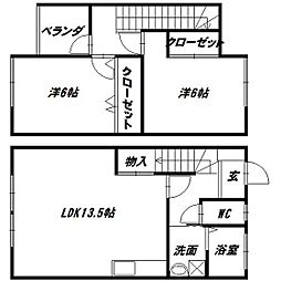[テラスハウス] 静岡県浜松市西区馬郡町 の賃貸【/】の間取り