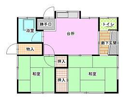 [一戸建] 神奈川県小田原市前川 の賃貸【/】の間取り