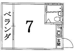 プチエレガンス[202号室号室]の間取り
