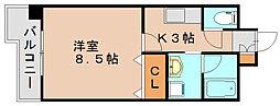福岡県福岡市博多区空港前2丁目の賃貸マンションの間取り